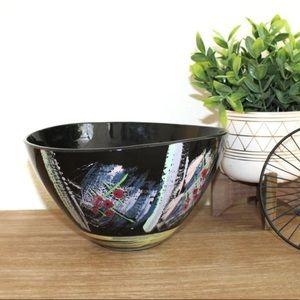 Hand Painted Large Ceramic Fruit Bowl/Decor